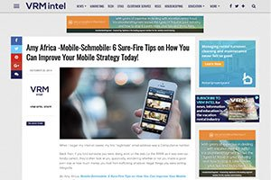 6 Sure-Fire Tips on How You Can Improve Your Mobile Strategy Today!