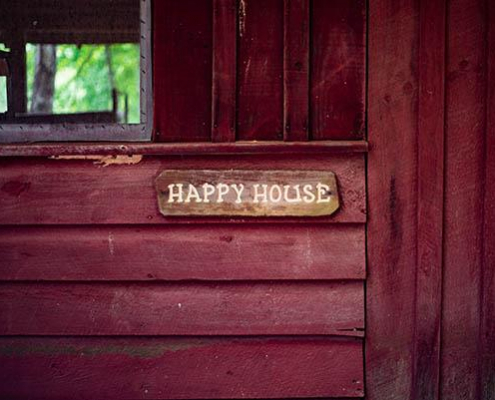 Happy House sign